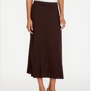 Eileen Fisher women's maxi brown wool skirt- L